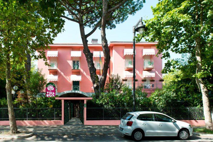 Ingresso Hotel Villa Rosa 2 stelle Cesenatico