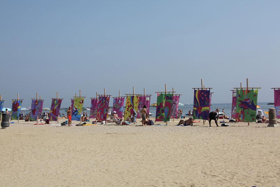 Le vele al mare in spiaggia Hotel Villa Rosa Cesenatico