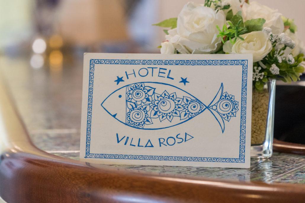 Biglietto da visita Hotel Villa Rosa